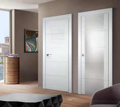 Arazzinni SmartPro Modern Interior Doors - Doors And Beyond - beautiful doors - and Damian knows everything about this product that sells itself. Best viewed in person at the Rahway NJ wholesale warehouse. Interior Doors, Modern Interior, Circle House, House Doors, White Doors, Wood Veneer, Natural Wood, Locker Storage, Warehouse