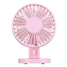 [$5.62] Mini USB Dual-layer blades Ultra-quiet Portable Desktop Fans(Pink)