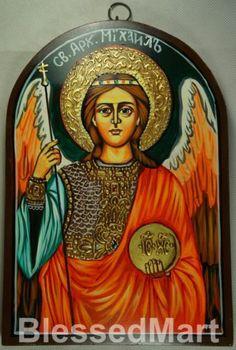 Saint St Archangel Michael Russian Hand-painted Eastern Orthodox Byzantine Icon