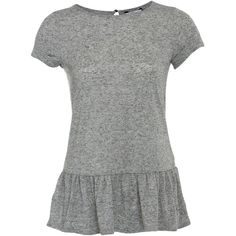 Grey Peplum T-Shirt ($6.23) via Polyvore