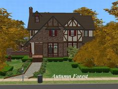 Celestina Otono came across this house for sale while on a hike with other sims through the Autumn Forest.  It was love at first sight, so she called Igmar Doodle, sim realtor, and made an offer....