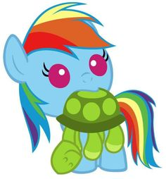 Baby rainbow dash and tank