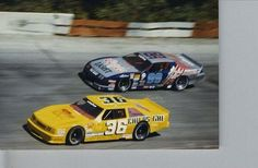 Kenny Wallace, Dick Trickle, 1987 Winchester Indiana.