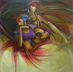 """""""Radha Krishna"""" Paintings Series by Artist Manoj Das http://colourentice.com/Manoj-Das.php? For any further details please call us at +91 9920042242 or write to us at live@colourentice.com, we are happy to assist you. #Art #Paintings #Decor"""