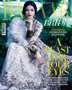 Stately Looking Aishwarya on Harper's Bazaar Bride Cover August 2015 Issue