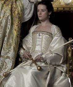 Anne Boleyn's Coronation gown, WOLF HALL, 2015