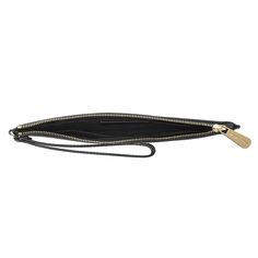 Jet Set Travel LG Zip Clutch Leather Black/Gold