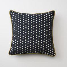 Woven Polka Throw Pillow