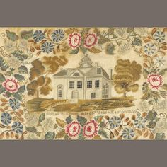 A silk, linen and wool needlework sampler Abigail H. Moore Easton, Pennsylvania dated 1830
