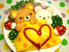 Sleeping rirakkuma   omelette rice