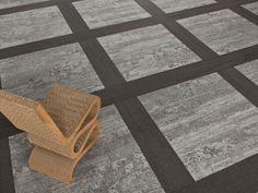 Our Skinny Plank #carpet tiles can be mixed and matched to create all #designs for #interior spaces, like this square, checker pattern, or a herringbone/chevron layout. The layout of floors can influence the actions of individuals in a room and their flow of traffic. Grey, neutral floors for offices. Fun, unique chairs for offices, waiting rooms