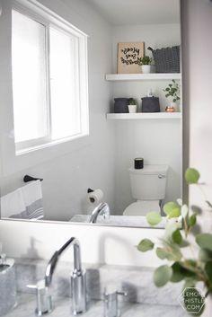 A Modern Bathroom Makeover One Room Challenge Reveal Chrome - Modern bathroom makeovers