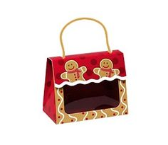 """Large Gourmet Window Gift Totes Gingerbread Man 6½"""" x 3¼"""" x 5 5/16""""-37296"""