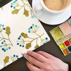 Happy Saturday! Happy April! It's a beautiful sunny day today, and I am so happy to be painting these odd berries in my handbook watercolor journal, sipping my almond chai, and taking in the cozy calming atmosphere at Canteen in Minneapolis. I'm going to go outside now because it is so lovely out... maybe a bike ride? I hope, regardless of the weather where you are, that you do something that makes you happy today! Cheers! . #illustratorinminneapolis #paintinginpublic #canteen3255…