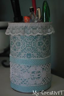 DIY: Pencil holder from Pringles can