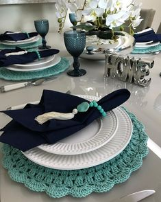 Best Ideas For Crochet Christmas Placemats Napkin Rings Christmas Placemats, Boho Home, Dinning Table, Table Arrangements, Deco Table, Decoration Table, Fine Dining, Tablescapes, Dinnerware
