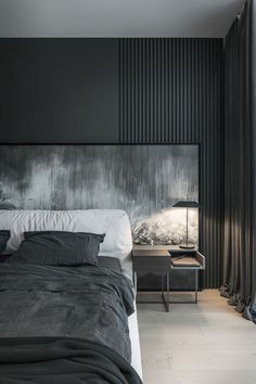 Most up-to-date Pictures modern bedroom interior Tips Associated with all the rooms at home, the room is probably the just one spent period in whenever itrrrs very . Modern Rustic Bedrooms, Modern Bedroom Decor, Modern Mens Bedroom, Dark Bedrooms, Dark Bedroom Walls, Master Bedrooms, Bedroom Ideas, Master Bedroom Design, Home Bedroom