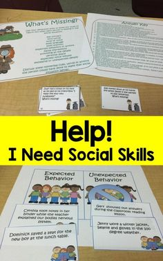 social skills activities for your older students with social skill deficits