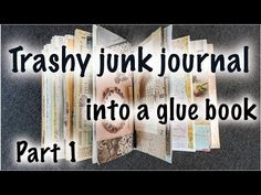 "For me, a ""trashy"" journal means using papers that I consider -- things like leftover art pieces, abandoned painting projects, pages torn from magaz. Nature Journal, Book Journal, Bullet Journal, Accordion Folder, Journal Inspiration, Journal Ideas, Altered Book Art, Glue Book, Art Addiction"
