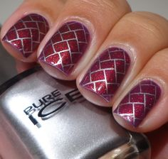 Nail Art - Stamp Plate w112 Winstonia - Weave Basket