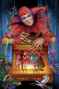 What Are Tarot Cards? Made up of no less than seventy-eight cards, each deck of Tarot cards are all the same. Tarot cards come in all sizes with all types What Are Tarot Cards, Arte Peculiar, Surreal Artwork, Tarot Astrology, Circus Art, Dark Circus, Art Sculpture, Salvador Dali, Clowns