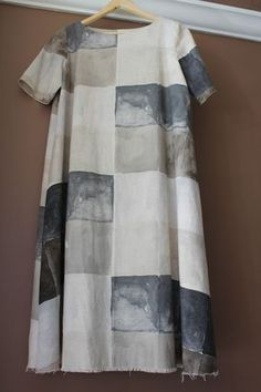 Merchant & Mills Trapeze Dress pattern made from a Nani Iro linen cotton blend print