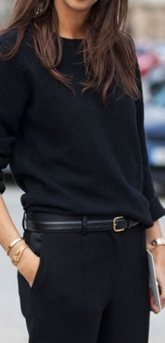 Minimalist Must Have: Black cashmere sweater    Similar Style Available on SiiZU