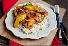 gingery chicken with peaches...sounds like an amazing summer meal