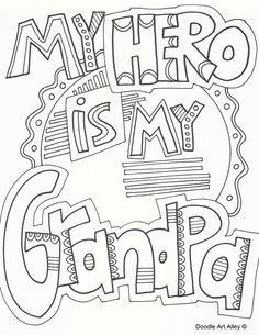 Grandparents Day Coloring Pages - Doodle Art Alley Fathers Day Coloring Page, Coloring Pages For Girls, Flower Coloring Pages, Free Coloring Pages, Printable Coloring Pages, Coloring Sheets, Coloring Books, Coloring Worksheets, Kids Coloring