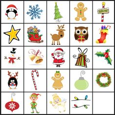 If you're looking for easy holiday party games to keep the kids entertained, print these games! Christmas Bingo, I Spy, Don't Eat Pete, & Christmas Memory. Printable Christmas Games, Christmas Bingo, Preschool Christmas, Christmas Activities, Kids Christmas, Vintage Christmas, Holiday Party Games, Kids Party Games, Memory Games