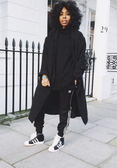 All Black Everything #Black #White #Adidas #Fashion #Clothes
