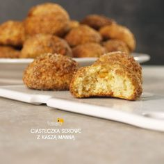 CIASTECZKA SEROWE Z KASZA MANNĄ Snack Recipes, Healthy Recipes, Snacks, Little Bites, Happy Foods, I Want To Eat, Sweet Cakes, Sweet Tooth, Food And Drink