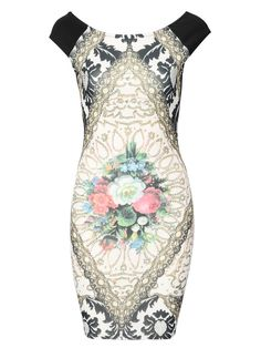#CLOTHING CLOSET ANTIQUE PRINT BODYCON DRESS by rubyredboutique.co.uk for £22.50