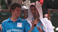 Novak Djokovic Makes Ball Boy's Day During Rain Delay. I loooooove this man for so many reasons <3
