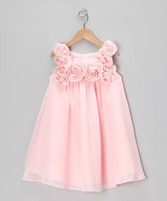 Sophia Young Pink Rosette Dress - Infant, Toddler & Girls | zulily