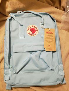 Fjallraven Kanken Backpack light blue on Mercari Mochila Kanken, Kanken Backpack, Backpack Bags, Pretty Backpacks, Cute Backpacks For School, Kanken Outfit, Japanese School Supplies, Stylish School Bags, Aesthetic Backpack