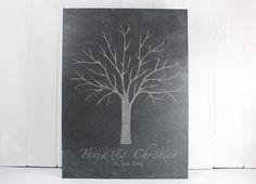 Wedding Tree - Hochzeitsbaum auf Schiefer von dueTori auf DaWanda.com