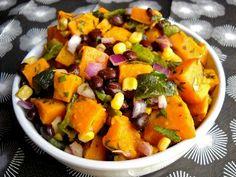 Roasted Poblano & Sweet Potato Salad