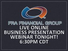 Learn about FRA Financial Group at YouTube.com/user/FRAFinancialGroup