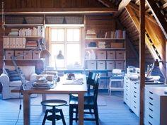 An organized attic...I wish.