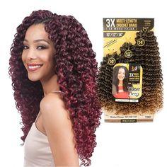 Water Deep Multi-Length Braid Crochet Hair Bundle Pack By Bobbi Boss - Waba Hair and Beauty Supply Crotchet Braids, Crochet Braids Hairstyles, Braided Hairstyles, Wave Hairstyles, Prom Hairstyles, Hairdos, Hairstyle Ideas, Curly Crochet Hair Styles, Curly Hair Styles