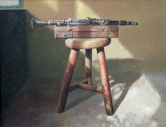 Clarinet oil painting by Jia Tian Shi