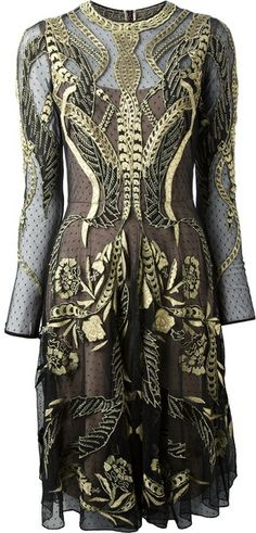 Temperley London Embroidered Long Sleeve Dress. An absolute swoon.