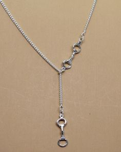Snaffle Bit Lariat | Equestrian Pendants and Necklaces, Horse Pendants and Necklaces | Loriece.com