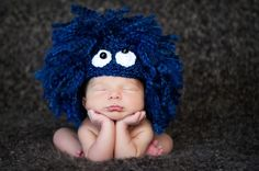 Monster Hat Baby Hat Animal Hat Crochet Baby Hat by dianirasoto, $55.00