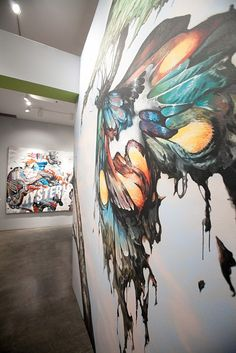 Esao Andrews butterfly mural at LBMA