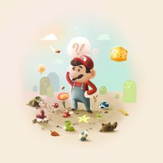 Too Super Mario Art Print