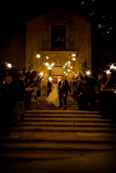 Sparklers at the reception :]