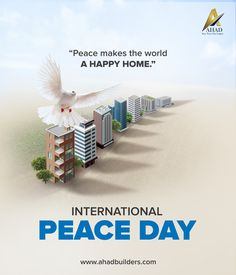 World Peace Day, World Days, International Day Of Peace, Adobe Illustrator Tutorials, Morning Inspirational Quotes, Country Roads, Real Estate, Graphic Design, Digital