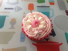 Jam Filled Strawberry Cupcake